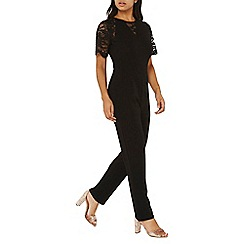 Dorothy Perkins - Black lace mix jumpsuit