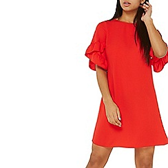 Dorothy Perkins - Red lace up back shift dress