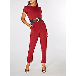 Dorothy Perkins - Berry belted jumpsuit