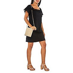 Dorothy Perkins - Black lace square neck shift dress