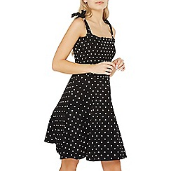 Dorothy Perkins - Black and ivory spotted Sun dress