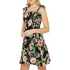 Dorothy Perkins - Black tropical print Sun dress