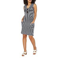 Dorothy Perkins - Navy striped pocket shift dress