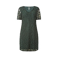 Dorothy Perkins - Green two tone lace shift dress