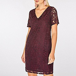 Dorothy Perkins - Purple two tone lace shift dress