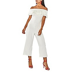 Dorothy Perkins - Ivory ruffle culotte jumpsuit