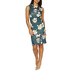 Dorothy Perkins - Green floral print scuba pencil dress