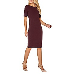 Dorothy Perkins - Burgundy split neck bodycon dress