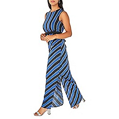 Dorothy Perkins - Blue striped sleevless maxi dress