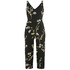 Dorothy Perkins - Black and green oriental print strappy jumpsuit
