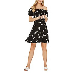 Dorothy Perkins - Black floral bardot dress