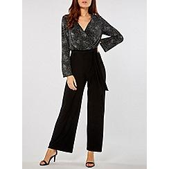 Dorothy Perkins - Black and sliver glitter top jumpsuit