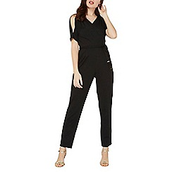 Dorothy Perkins - Black wrap detail hardware jumpsuit