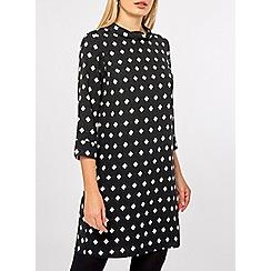 Dorothy Perkins - Black geometric print shift dress