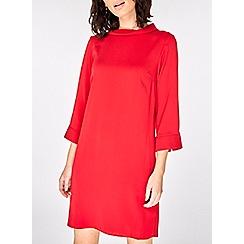 Dorothy Perkins - Red roll-neck shift dress
