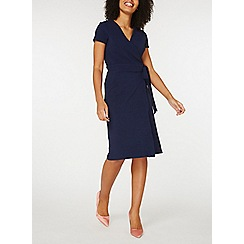 Dorothy Perkins - Navy crepe wrap dress