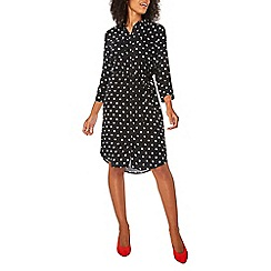 Dorothy Perkins - Black polka-dot print shirt dress