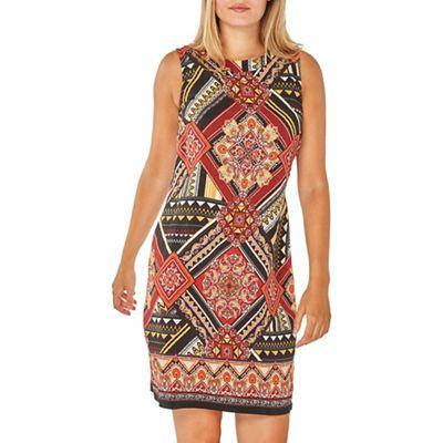 790bf8b7487 Dorothy Perkins Rust aztec print shift dress