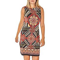 Dorothy Perkins - Rust aztec print shift dress