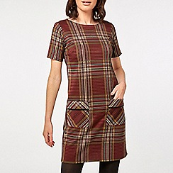 Dorothy Perkins - Red Checked Shift Dress