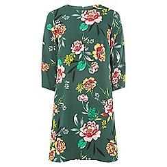 Dorothy Perkins - Teal floral print shift dress