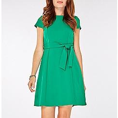 Dorothy Perkins - Green tie waist dress