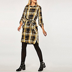 Dorothy Perkins - Yellow Checked Shirt Dress