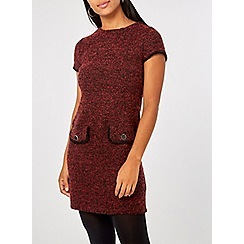Dorothy Perkins - Red jersey boucle shift dress