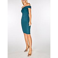 Dorothy Perkins - Blue bardot bandage bodycon dress