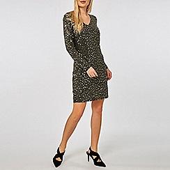 Dorothy Perkins - Glitter and sequin embellished shift dress