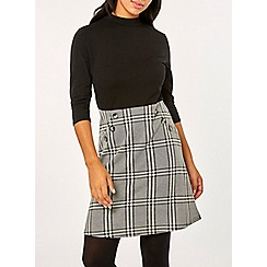 Dorothy Perkins - Black button check 2-in-1 dress