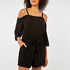 Dorothy Perkins - Black cold shoulder playsuit