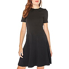 Dorothy Perkins - Black lace collar skater dress
