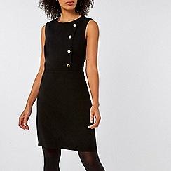 Dorothy Perkins - Black button shift dress