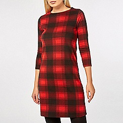 Dorothy Perkins - Red checked jersey shift dress