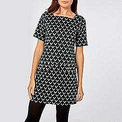 Dorothy Perkins - Green geometric print shift dress