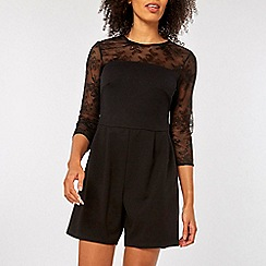 Dorothy Perkins - Mesh sleeve playsuit