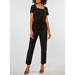 Dorothy Perkins - Black square neck belted jumpsuit