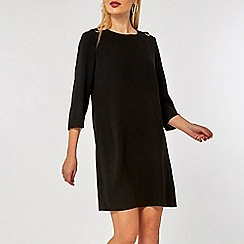 Dorothy Perkins - Black eyelet shift dress