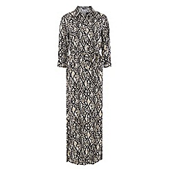 Dorothy Perkins - Print shirt maxi dress