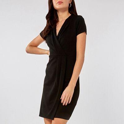 a6c7ddf178 Dorothy Perkins - Black pleat wrap pencil dress
