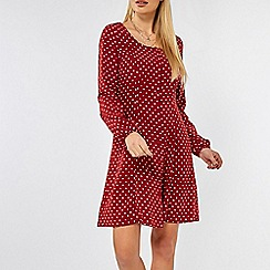 Dorothy Perkins - Red Spot Print Button Tea Dress