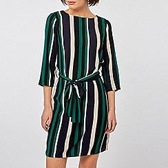 Dorothy Perkins - Multi Coloured Stripe Tie Waist Belt Shift Dress
