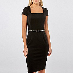 Dorothy Perkins - Square neck belted pencil dress