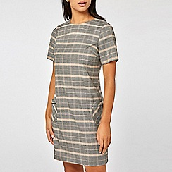 Dorothy Perkins - Blush and Grey Check Print Shift Dress
