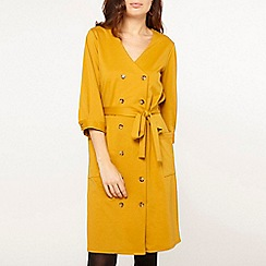 Dorothy Perkins - Ochre ponte shirt dress