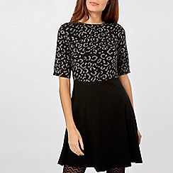 Dorothy Perkins - Leopard print 2-in-1 fit and flare dress