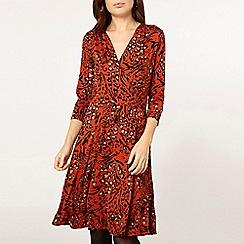 Dorothy Perkins - Orange leopard print wrap dress