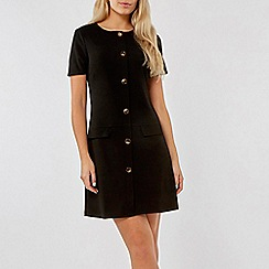 Dorothy Perkins - Black Horn Pocket Shift Dress