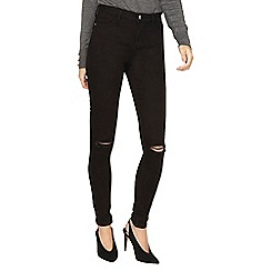 Dorothy Perkins - **tall black 'darcy' rip knee skinny fit jeans